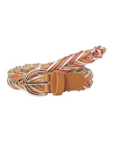 PIECES - PCLION BRAIDED JEANS BELT Cognac