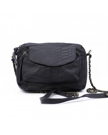 PIECES - PCNAINA Leather bag Crossbody bag for Women Black Snake