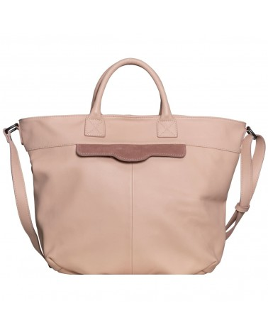 Lea Toni Gwen Leather Cabat Bag Nude