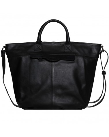 Lea Toni Gwen Leather Cabat Bag Black