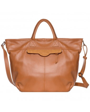 Lea Toni Gwen Leather Cabat Bag Cognac