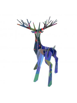 Tête de cerf décorative en carton 3D totem cerf enchanté Studio ROOF