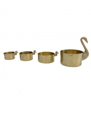 Doing Goods - Tasses de Mesures Cygnes lot de 4