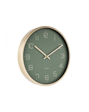 Present time - Karlsson Wall Clock Gold Elegance Green