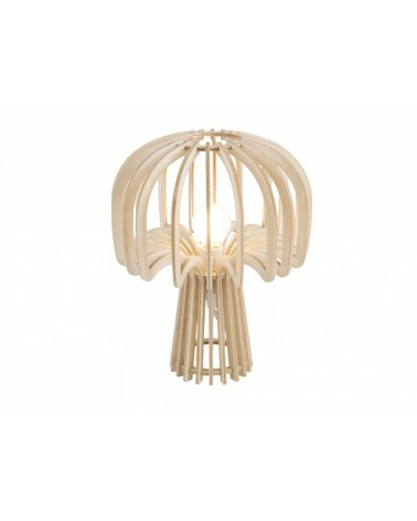 Present time Leitmotiv Table lamp Globular Mushroom wood natural