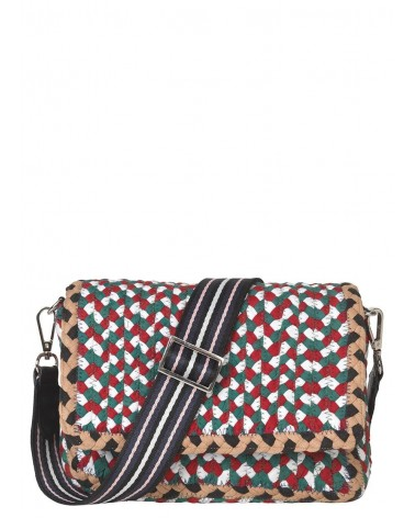 BECK SONDERGAARD - Sac bandoulière Braidy Fiery Red