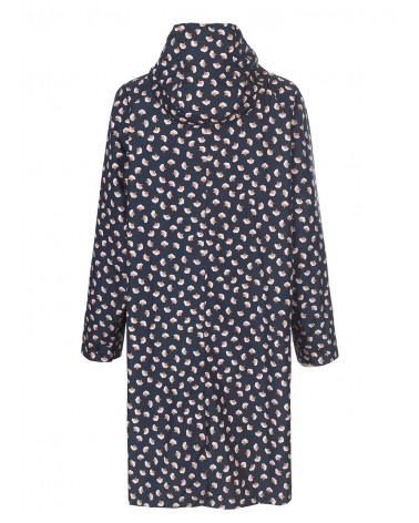 BECK SONDERGAARD - Raincoat Waterproof printed with hood Magpie Lynn Blue Nights