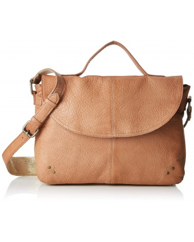 PIECES PCBETHANY Grand Sac bandoulière en cuir Nature