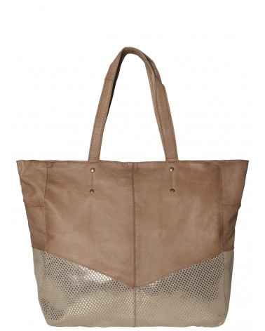 PIECES - PCBRITTANY  Leather Shopper Handbag Shopping bag Nature