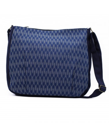 TheWan - SAO MAI Shoulder bag in Japanese cotton GM Arrows sevenberry blue night
