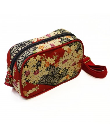 TheWan - SAO MAI Rectangular Japanese cotton shoulder bag Sakura red