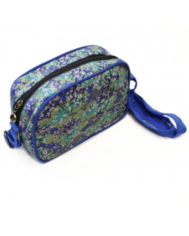 TheWan - SAO MAI Rectangular Japanese cotton shoulder bag Hana blue