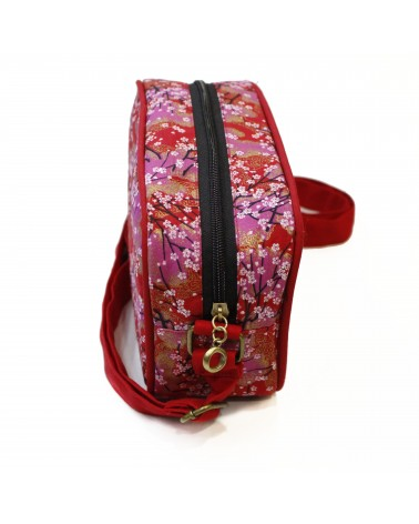 TheWan - SAO MAI Rectangular Japanese cotton shoulder bag Hana red