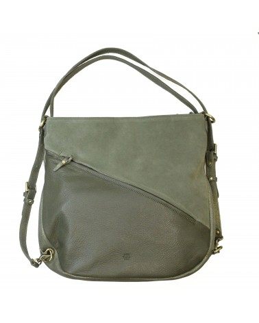 Mila Louise - Cabas Sac à dos Cuir PACOME Oyster