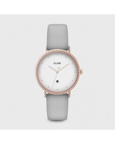 CLUSE - Montre Femme Le Couronnement Rose Gold White Soft Grey