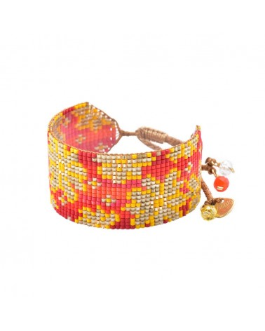 Mishky - Bracelet artisanal perles cousues main RAYS-BE-M-7604