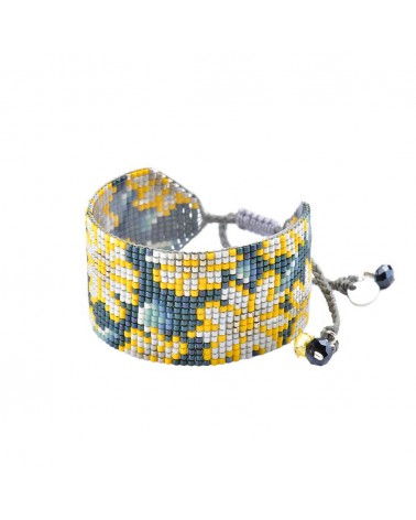Mishky - Bracelet artisanal perles cousues main RAYS-BE-M-7597