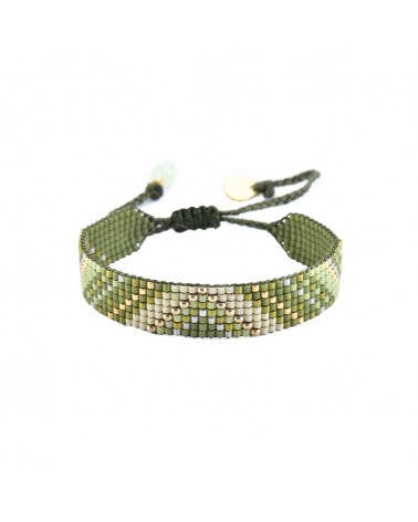 Mishky - Bracelet artisanal perles cousues main Track 7-BE-S-7529