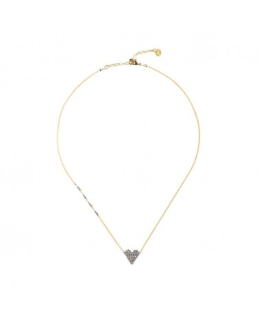 Mishky - Collier artisanal perles cousues main HEARTSY NECKLACE-GP-S-7591