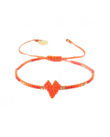 Mishky - Bracelet artisanal perles cousues main HEARTSY ROW-BE-XS-7579