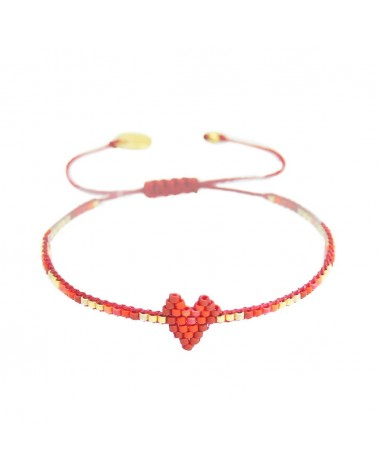 Mishky - Bracelet artisanal perles cousues main HEARTSY ROW-BE-XS-7559