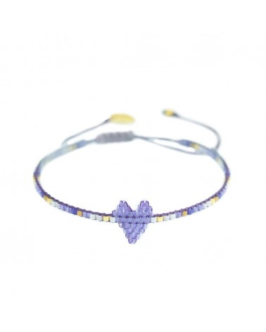 Mishky - Bracelet artisanal perles cousues main HEARTSY ROW-BE-XS-7582
