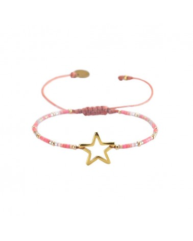 Mishky - Bracelet artisanal perles cousues main MELTED STAR-SP-XS-7646