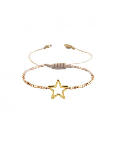 Mishky - Bracelet artisanal perles cousues main MELTED STAR-SP-XS-7644
