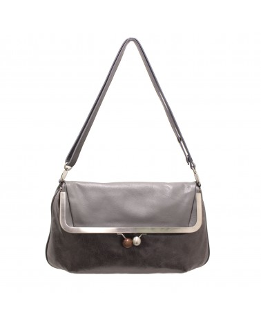 Cyan - RITA HANDBAG DREAM LEATHER GREY
