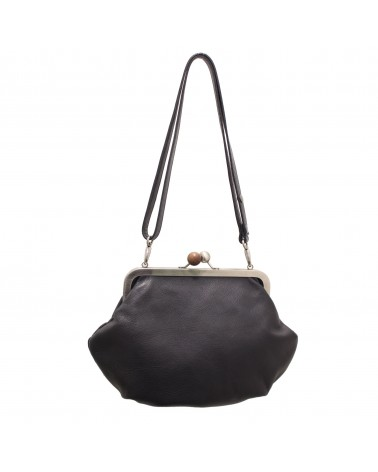 Cyan - GRAN MELISSA HANDBAG DREAM LEATHER BLACK