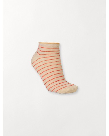 Beck Sondergaard - Chaussettes Dollie Stripe Sock Red Love