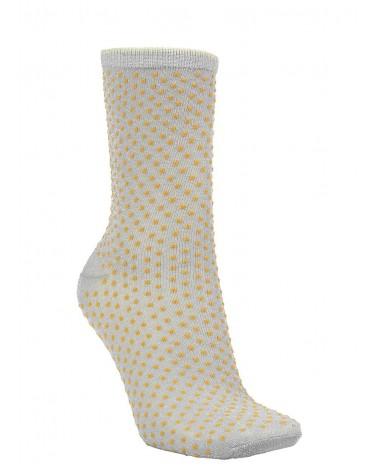 Beck Sondergaard - Chaussettes Dina Small Dots Coll Honey Yellow