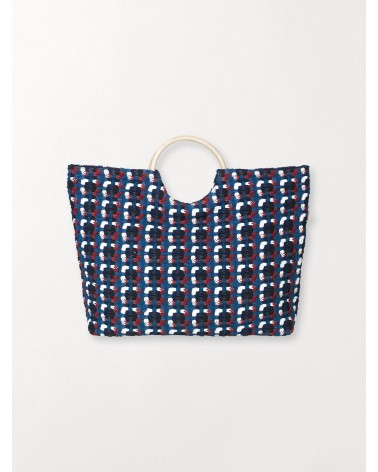 Beck Sondergaard - Sac à main Barry Straw bags Sodalite Blue