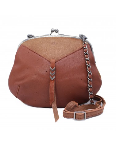 Mila louise - POE Rust Leather Shoulder Purse bag