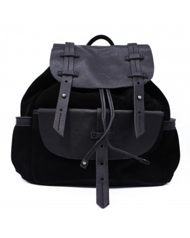 Mila louise - Omeo Black Glitter Leather Backpack