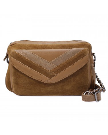 Mila louise - Oreline Caramel Leather Shoulder bag
