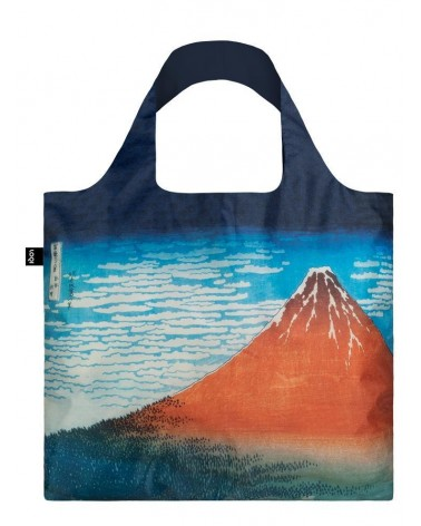 LOQI - Sac de courses pliable Museum Hokusai Red Fuji Mountains in Clear Weather