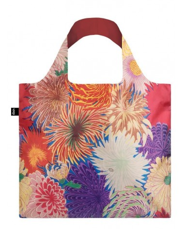 LOQI - Sac de courses pliable Museum Mad Japanese Chrysanthemum