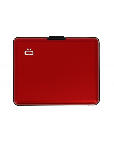Ögon Designs - BIG STOCKHOLM Portefeuille Aluminium grand format Rouge