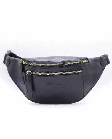 Neuville - Banana Bag SPLIT BLACK VINTAGE