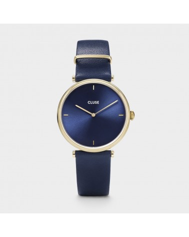 CLUSE -  Triomphe Leather Gold Blue/Blue