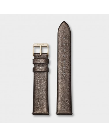 CLUSE -  Strap 18 mm Leather Chocolate Brown Metallic/ Gold