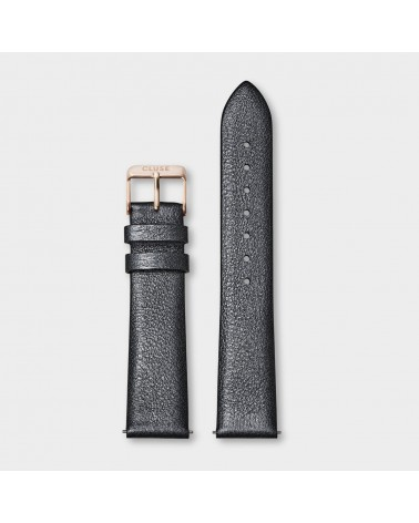 CLUSE -  Strap 18 mm Leather Dark Grey Metallic/ Rose Gold