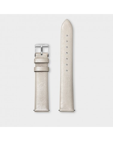 CLUSE -  Strap 16 mm Leather Warm White Metallic/ Silver