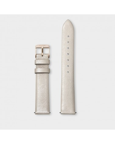 CLUSE -  Strap 16 mm Leather Warm White Metallic/ Rose Gold