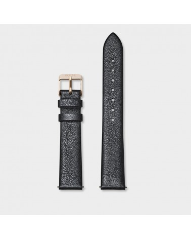 CLUSE -  Strap 16 mm Leather Dark Grey Metallic/ Rose Gold