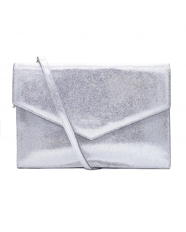 Neuville - Pochette cuir BIG PARTY MARILYN SILVER