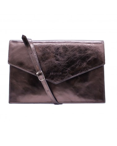 Neuville - Pochette cuir BIG PARTY NAPPA BURGUNDY