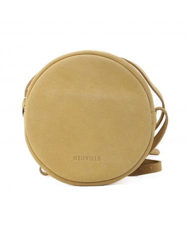 Neuville - Sac bandoulière cuir RONDO YELLOW SUEDE