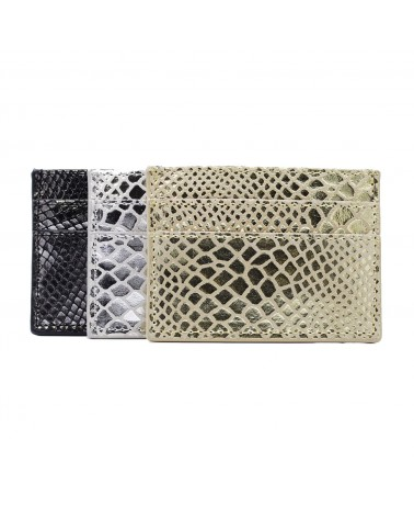 PIECES - PCNAINA Porte-carte cuir PCNAINA Leather Snake CardHolder